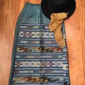 Western maxi skirt
